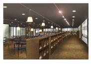 「本と雑貨があるカフェ Tutti」イメージパース