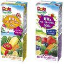 『Dole(R) Vegetable 野菜&パインフルーツMix 100%』 『同  野菜&ベリーフルーツMix 100%』