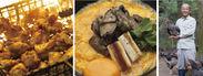 炭火焼風景、ぶり鶏親子丼、ぶり鶏養鶏場