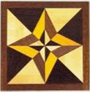「星」をイメージした組木デザイン