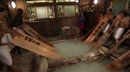 草津温泉で湯もみ体験