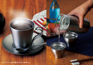 (左)飲みごろコーヒーカップ&ソーサー/(右)飲みごろ日本酒セット