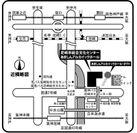 <尼崎市総合文化センター案内>阪神尼崎駅から北東に徒歩約5分。(立体遊歩道をご利用ください。)
