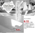 ガラスの厚みは0.33mm