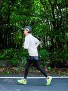大会に向けランニングをする持田さん PHOTO by 田中聖太郎