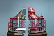 東京駅丸の内駅舎復原模型