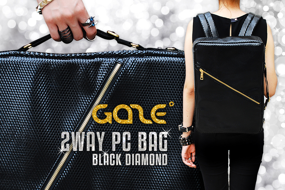 GAZE 2WAY PCバッグ Black Diamond