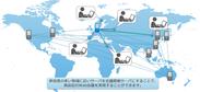 図1 海外拠点サーバを利用したWeb会議のイメージ