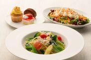 シラスといろいろ野菜のペペロンチーノ