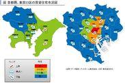 首都圏、東京23区の賃貸住宅市況図