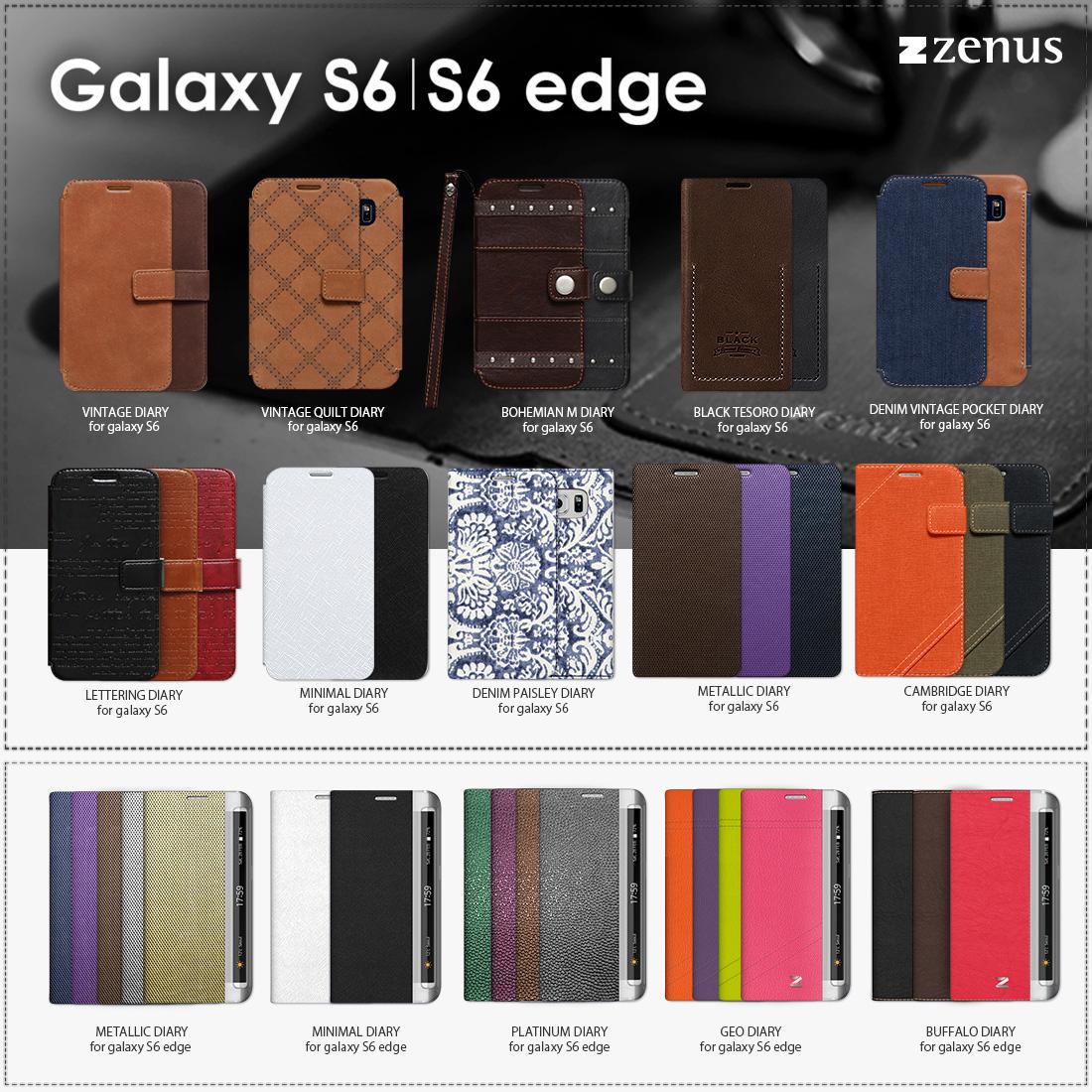7ff16b9c5a 今回発売するGalaxy S6 / Galaxy S6 Edgeプレミアムレザーケース は、Zenus独自の技術や持ち味の高級素材にデザイン性、機能性を盛り込んだケースです。