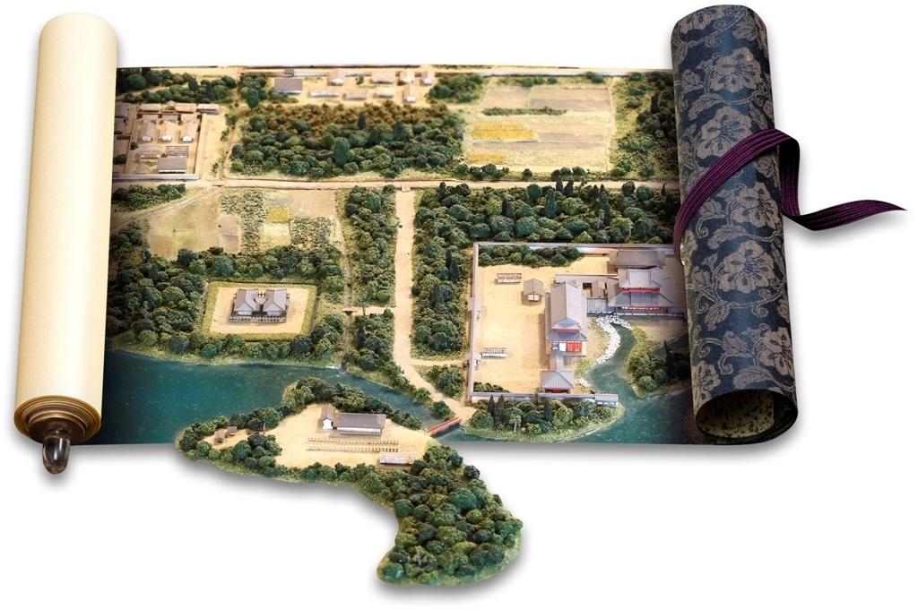鳥羽離宮復元模型 (京都市歴史資料館 蔵)