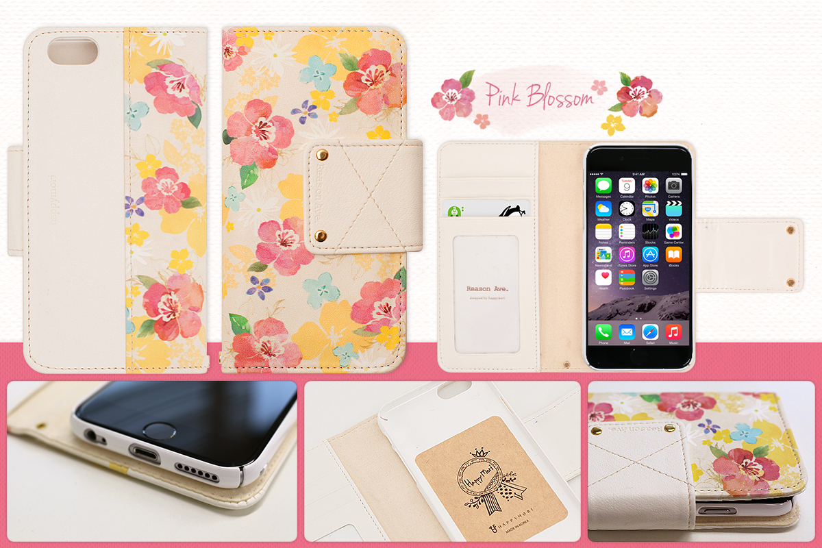 Happymori iPhone6ケース Reason ave. Flying Blossom Diary