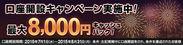 『口座開設で最大8,000円』キャッシュバックキャンペーン