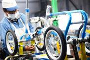 自転車の組立は1台1台手作業で行っています