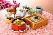 松茸と栗のワッパ定食