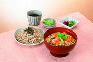 名古屋コーチン舞茸丼と麺