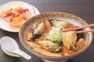 広島産牡蠣の刀切麺