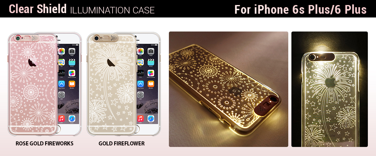 SG、光る!イルミネーション iPhone ケース 「花火シリーズ」発売