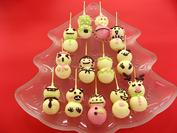 「チョコマント パーティー雪だるま」3