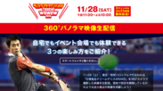 TOUCH!WOWOW 2015で360°パノラマ生配信