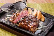 【ステーキガスト】「熟成赤身ログがっつりステーキ」2
