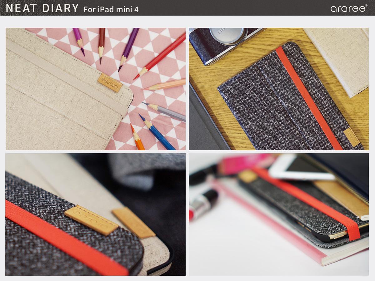 可愛いiPad mini4専用手帳型ケース