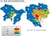 1都3県、東京23区の賃貸住宅市況図
