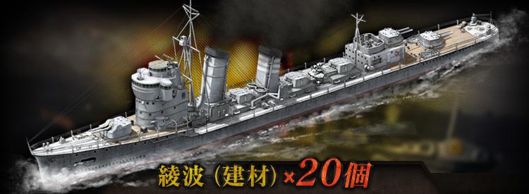 綾波(駆逐艦)アップグレード用建材