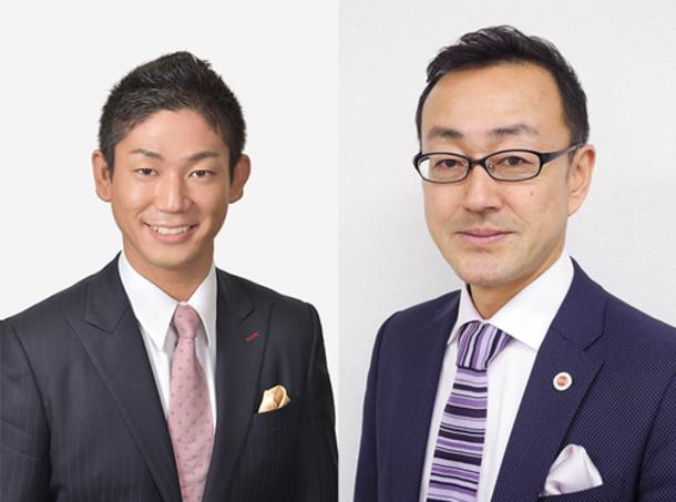 菱田 陽介 代表司法書士(左) 留目 津 代表税理士(右)