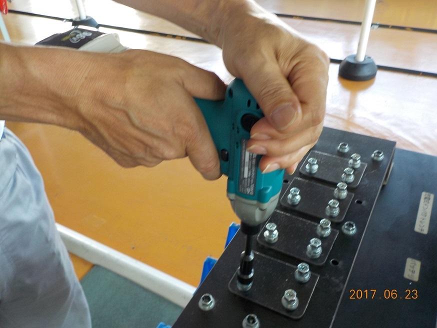 ボルト締付け作業の様子(イメージ)