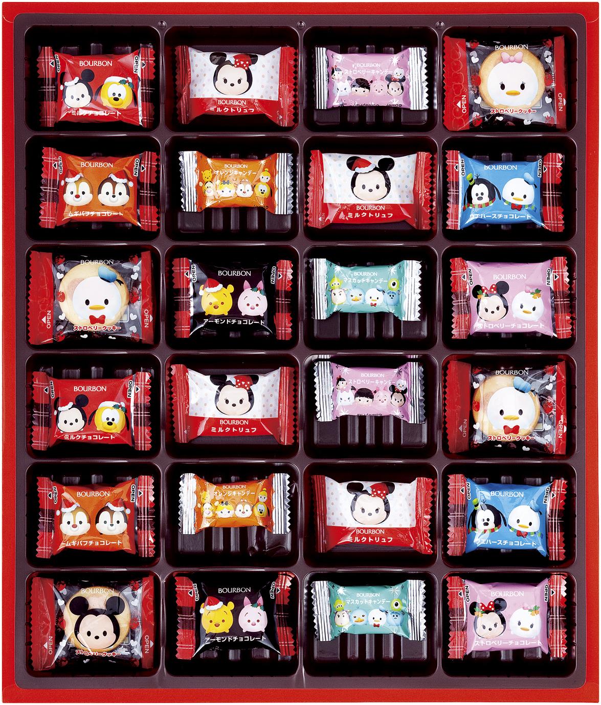 ブルボン、ディズニーツムツムなどをデザインしたクリスマス向け商品10