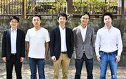 写真左より:DBJキャピタル河合氏、当社リードエンジニア葦名、当社代表取締役森田、当社取締役中嶋、Draper Nexus Venture Partners倉林氏
