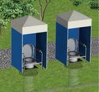 マンホールトイレの使用イメージ図
