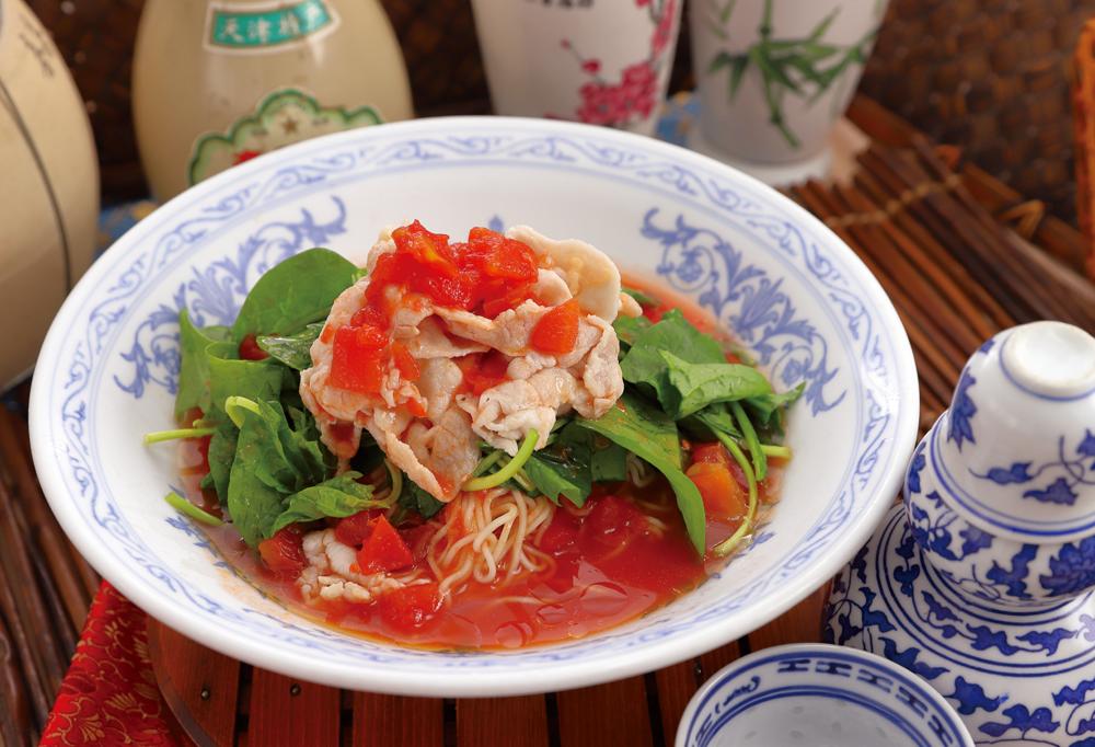 パッと見イタリアン!?食すと「中華」の味わい!旬のトマトを使用した「中国料理冷し麺」『冷しトマト麺』... 画像