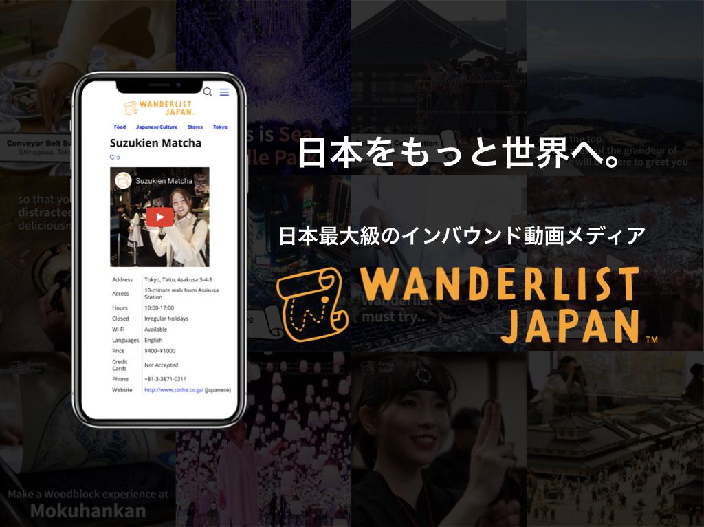 「Wanderlist Japan」Webサイト