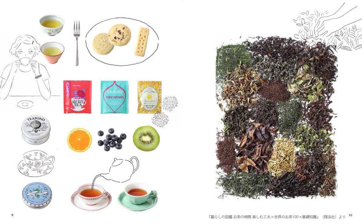 暮らしの図鑑 お茶の時間 楽しむ工夫×世界のお茶100×基礎知識_中面1