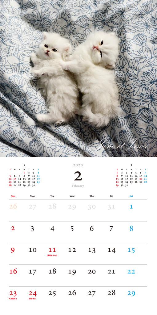 パリにゃん カレンダー 2020(翔泳社)2月