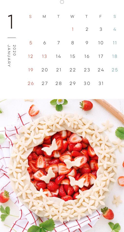 HAPPY SWEETS LIFE お菓子のある暮らし カレンダー 2020(翔泳社)1月