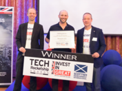 UK Tech Rocketships: Future of Financial Services Awardの授与式にて