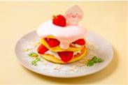 アピーチ クリームチーズ&ストロベリーパンケーキ ¥1,500-(税込)