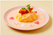 アピーチ ピンクオムライス ¥1,300-(税込)