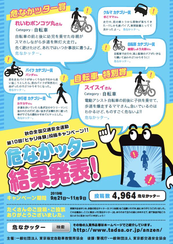 第10回「ヒヤリ体験」投稿キャンペーン『危なかッター』受賞作品を発表 大賞は、自転車のヒヤリ体験! 画像
