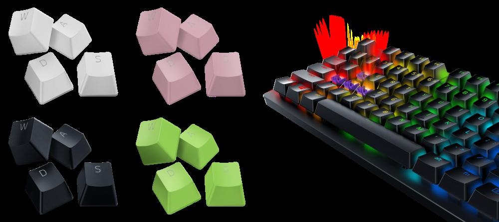 Razer、デザインと機能性を両立した交換用キーキャップ「Razer PBT Keycap」4色、冷... 画像