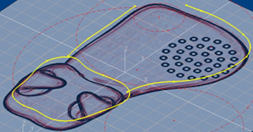スケッチの輪郭を3D CADで抽出