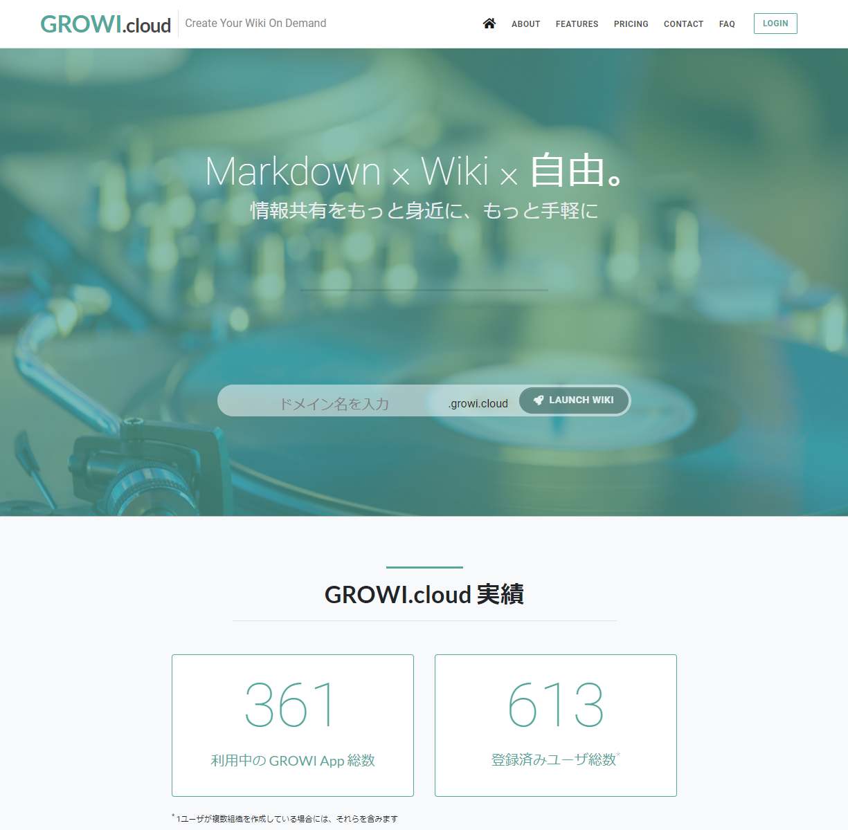 GROWI.cloud トップ