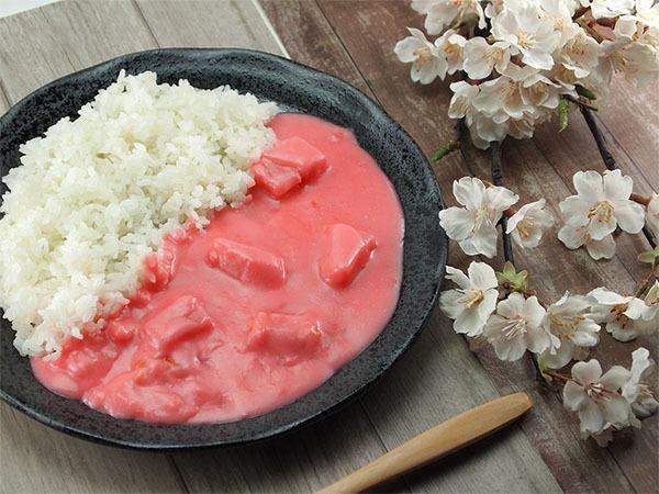 """ピンクの春満開""""さくら色""""野菜カレーが登場!よこすか海軍カレーの調味商事が子供達の希望に応える 画像"""