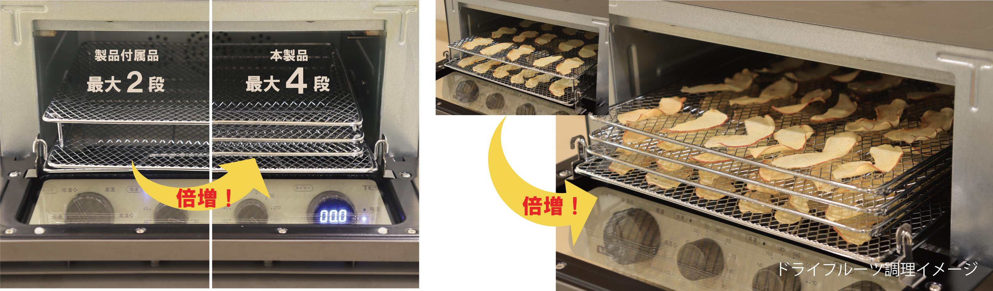低温コンベクションオーブンユーザーの「一気にたくさん調理したい」に応えるあし付き網セット 2020年... 画像