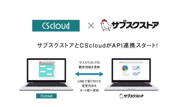 リピート通販(D2C)向けLINE拡張ツール『CScloud』が、『サブスクストア』とAPI連携を開... 画像