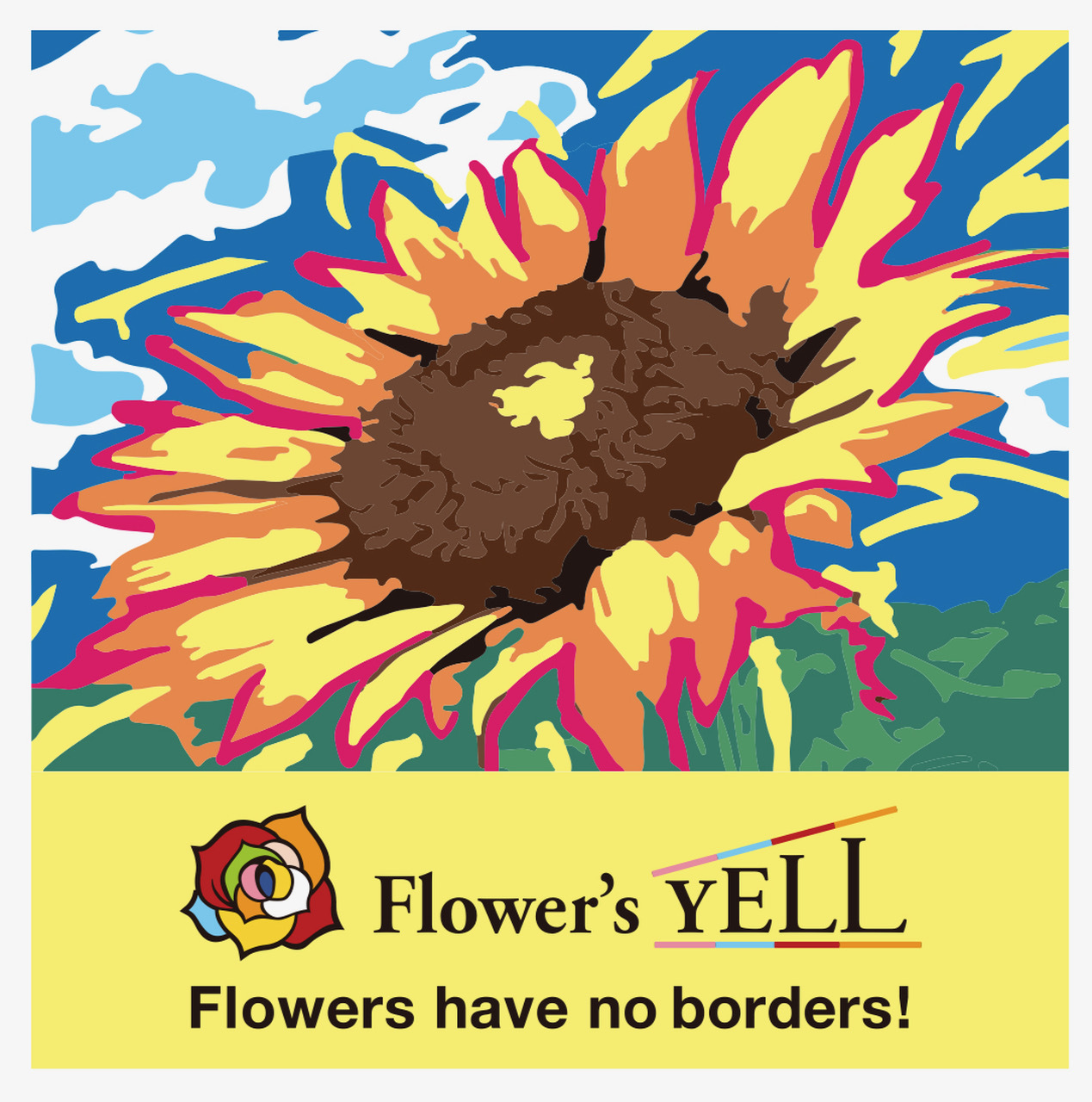 """4,000本のバラの生花で描く""""Flower's YELL(花のエール)""""!東京ミッドタウン日比谷に... 画像"""